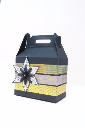 boite cadeau gris jaune